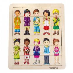 Match & mix kids puzzel