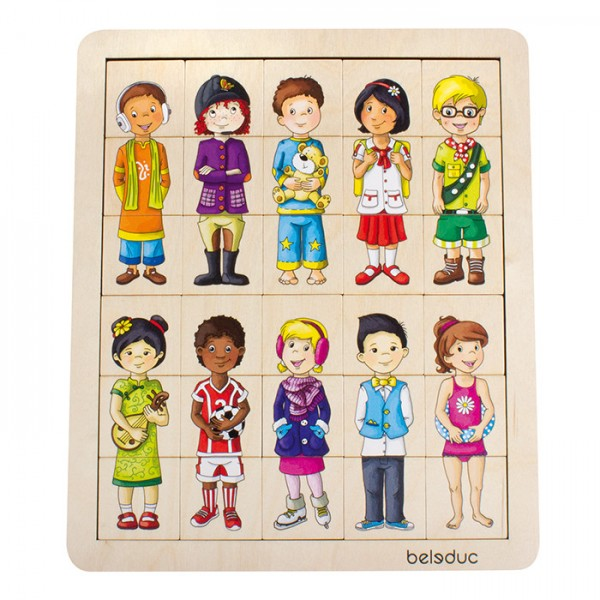 Match & mix kids puzzel