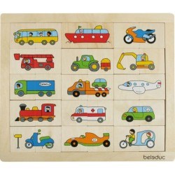 Match & mix transportpuzzel