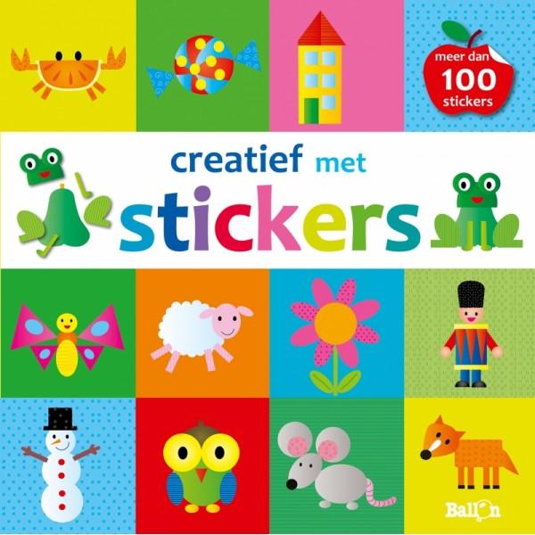 Creatief met stickers (appel)