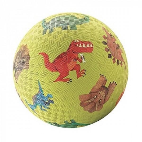 18cm speelbal in natuurrubber dino