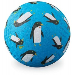 18cm bal in natuurrubber pinguin