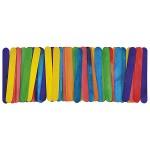Knutselhoutjes 11cm gekleurd 50 stuks