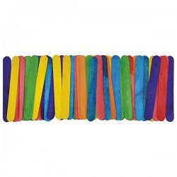 Knutselhoutjes 15cm gekleurd 50 stuks