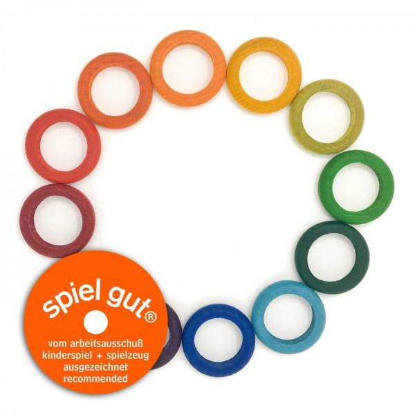 12 ringen in regenboogkleuren - waldorf kalender