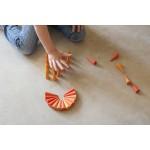 Mandala houten kegels oranje