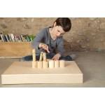 6 houten potjes met deksel blank hout - grapat