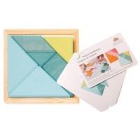 tangram blauw/groen met boekje