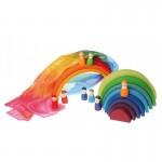 Speelzijde regenboog 86x86cm