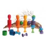 Sorteerspel regenboog paddenstoelen van Grimms