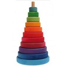 Grote schijventoren regenboog