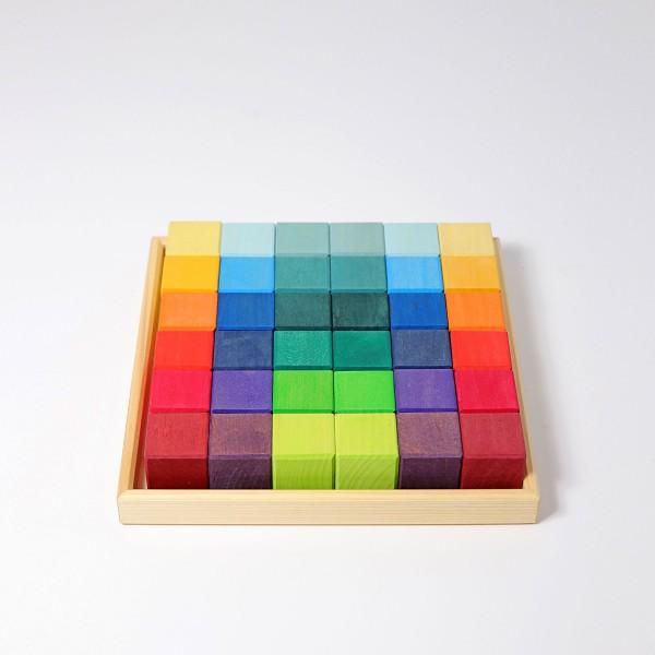 blokkenset mosaIek regenboog 36 blokken
