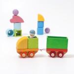 Bouwspel treintje met accessoires- Grimms 2020