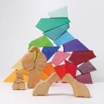 Bouwset regenboogleeuw - Grimms 2020