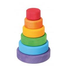Kleine schijventoren regenboog