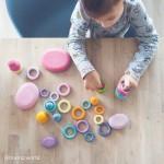 bouw- en sorteerringen pastel