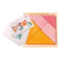 tangram roze-oranje met boekje