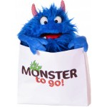 Handpop blauw monster to go
