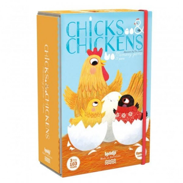 chicks and chickens memory spel