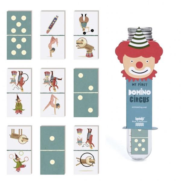 domino in buisje thema circus