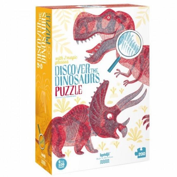 discover the dinosaurs: magische puzzel 200 stukken