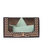 origami bootje munt natuurrubber