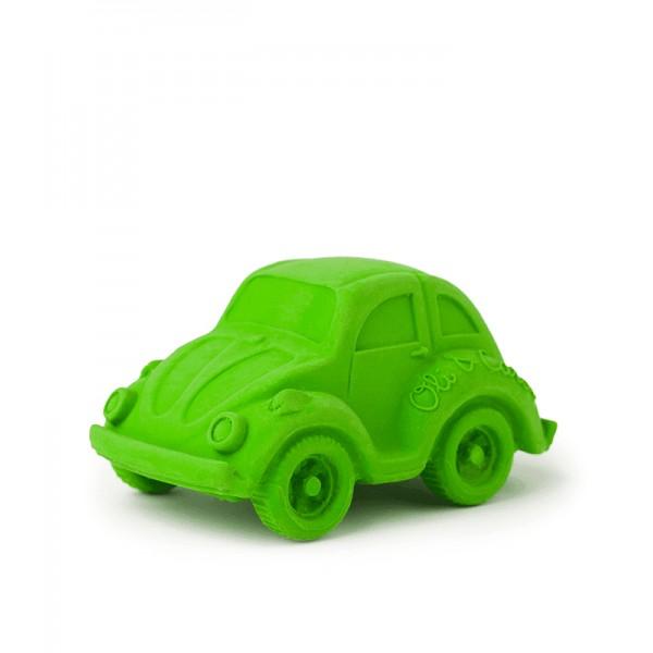 auto groen - natuurrubber bad- en bijtspeeltje Oli&Carol