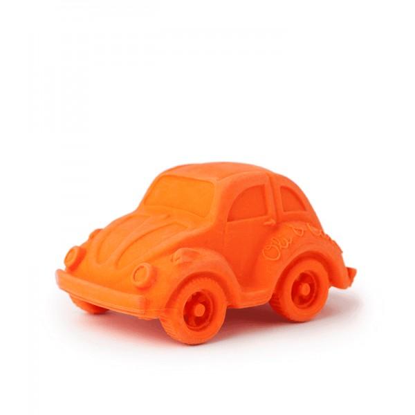 natuurrubber bad- en bijtspeeltje oranje auto Oli&Carol
