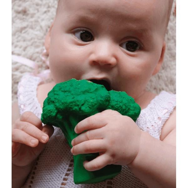 natuurrubber bad- en bijtspeeltje brocoli