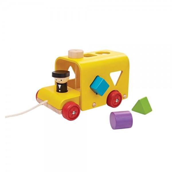 vormen sorteerspel busje plan toys