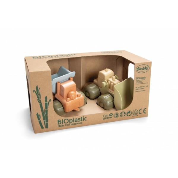 BIOplastic bouwvoertuigen (set van 2) in geschenkdoos