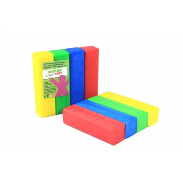 bijenwas speelklei blokvorm (4 blokken van 100gr)