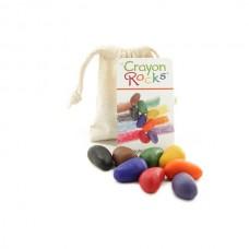 Crayon Rocks: 8 soja waskrijtjes in katoenzakje