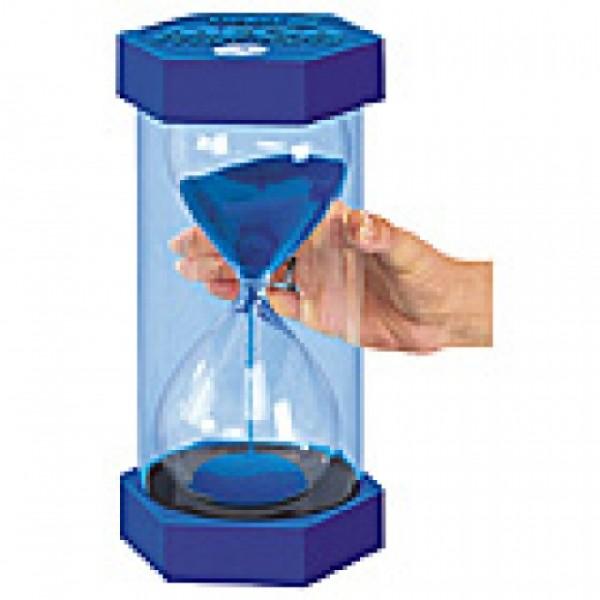 reuze zandloper 30cm - 15 min. (blauw)