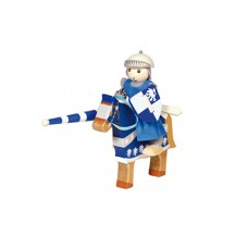 ridder Lancelot op paard blauw