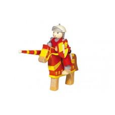 ridder Artus op paard rood