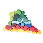 bouw/puzzelset regenboogslang grimms
