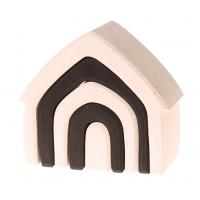 monochroom huisje