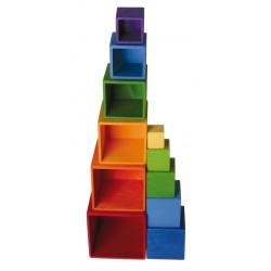gekleurde stapelblokken groot