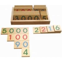 Houten getalkaarten 1 tot 9999 (groot)