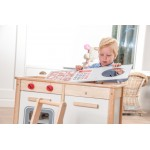 Keukenblok wit/naturel verstelbaar