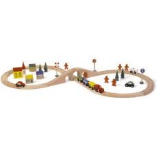 spoorweg set van 46 stuks