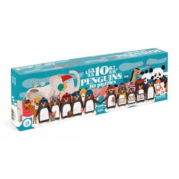 1-2-3 Penguins progressieve puzzel
