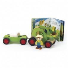 Houten tractor: mein kleine welt
