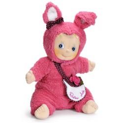 Knuffelpop Sofie in konijnenpakje