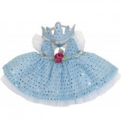 Blauwe prinsessenjurk