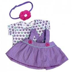 Mooie paarse overgooier met tshirt