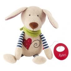 muzikale knuffel hondje (biokatoen)