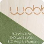 Wobbel linnen bos - natuurlijk wolvilt