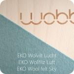 Wobbel linnen sky  - natuurlijk wolvilt